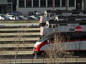 Caltrain Trains Parked At Station