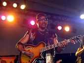 Toots From Toots And The Maytals Plays Guitar During Set On Stage