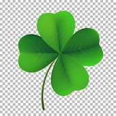 Vector Four-leaf Shamrock Clover Icon. Lucky Fower-leafed Symbol Of Irish Beer Festival St Patricks poster