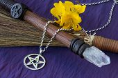 image of wiccan  - close up of wiccan objects  - JPG