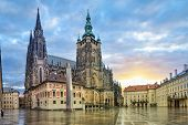 St. Vitus Cathedral In Prague Castle Complex In Prague, Czech Republic (hdr Image) poster