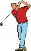 jogador de golfe