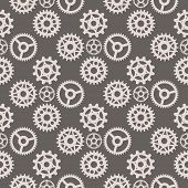 Gear Vector Illustration Mechanics Gearing Web Development Shape Work Cog Seamless Pattern Backgroun poster