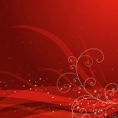 Red Christmas Background, Vector