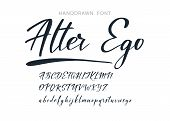 Calligraphic Alphabet. Vector Handdrawn Letters. Typography Alphabet For Your Designs: Logo, Typefac poster
