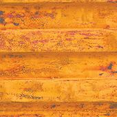 Yellow Grunge Sea Freight Container Background, Dark Rusty Corrugated Pattern, Red Primer Coating, H poster