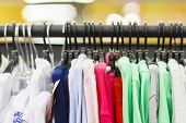Clothes On Hangers In Row In Boutique Clothes. Clothing Store poster