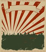 Grunge US-amerikanischer poster