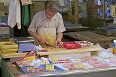 Meeresfrüchte Butcher Japan