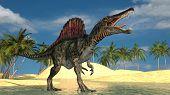 spinosaurus on water