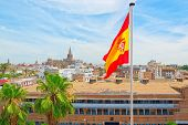 Panoramic View Of The City Of Seville From The Observation Platf poster
