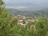 Mountainous Landscape In Kabylia. Kabyle Mountains. Outdoor, Day Grip And Without Character. Front V poster