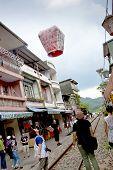 Floating Lantern Festival In Taipei,taiwan