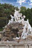 foto of schoenbrunn  - The Neptune Fountain in Schoenbrunn Vienna Austria - JPG
