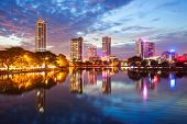 Beira Lake And Colombo City Skyline View At Sunset. Beira Lake Is A Lake In The Center Of The Colomb poster