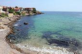 Sozopol Beach on Black Sea in Bulgaria