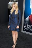 HOLLYWOOD, CA - MAY 7: Actress Chloe Grace Moretz arrives at the premiere of the Warner Bros. Pictures' Dark Shadows on May 7, 2012 in Hollywood, California.