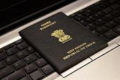 Abstract Background Of Passport, Indian Passport, Indian Visa, Travel Document, Travel Technology Co poster