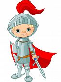 Illustration of little knight