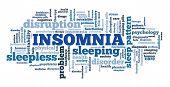 Insomnia Concepts Word Cloud. Sleep Disorder Keywords Illustration. poster