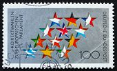 Postage stamp Germany 1994 Stars and Flags of EU