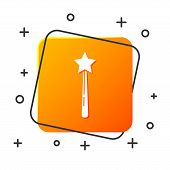 White Magic Wand Icon Isolated On White Background. Star Shape Magic Accessory. Magical Power. Orang poster