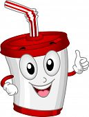 Mascot Illustration Featuring a Plastic Cup
