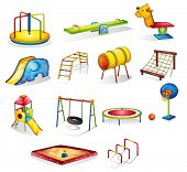 Collection of isolated play equipment - EPS VECTOR format also available in my portfolio.
