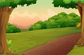 Illustration of a path in a rural setting - EPS VECTOR format also available in my portfolio.