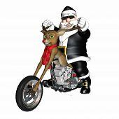 Santa der Rentiere Konzept Häcksler