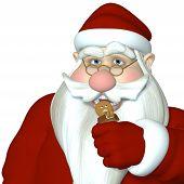 Santa In Gingerbread Man Attack
