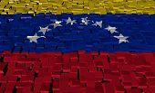 Venezuelan flag on blocks illustration