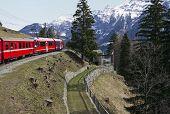 Alps Train And Railway Station