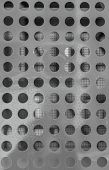 Close-up Of Metal Surface With Symmetric Round Openings poster