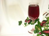 Wine Glass With Red Wine On White Background