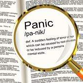 Panik Definition Bildschirmlupe anzeigen Trauma Stress und Hysterie