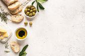 Mediterranean Food Background poster