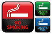 Labels set - No smoking area stickers