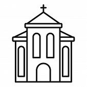 Europe Church Icon. Outline Europe Church Vector Icon For Web Design Isolated On White Background poster