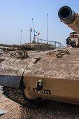 Israeli Merkava Tank  In Latrun Armored Corps Museum
