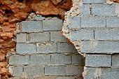 Broken Stone And Cinder Block Walls