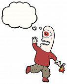 monstro de Ciclope dos desenhos animados