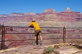 Man On Plateau Point Overlook