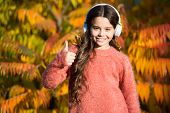 Music For Autumn Mood. Listening Song. Enjoy Music Fall Day. Listening Audio Best Way Help Child Imp poster