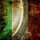 picture of italian flag  - italian flag waving in the wind with some folds - JPG