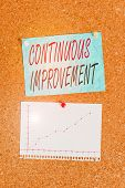 Writing Note Showing Continuous Improvement. Business Photo Showcasing Ongoing Effort To Improve Pro poster