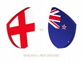 England V New Zealand, Icon For Rugby Tournament. Rugby Vector Icon. poster