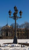 picture of sankt-peterburg  - typical old lantern in the center of Sankt - JPG