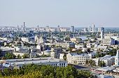 Panorama Of Kiev In The Summer