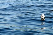 Flootball On Blue Water Surface